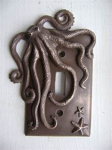 bronze octopus single toggle light switch cover wall decor animal wall art sculpture decor