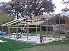 Construction D Un Hangar En Bois 4 7m X 10m 183 Construction