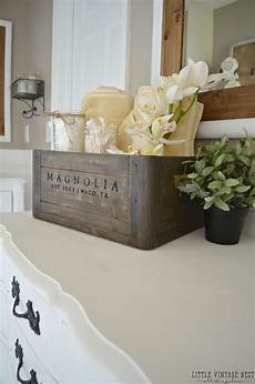 Decorating Ideas For Bathroom Counter by 5 Ways To Style A Wooden Crate Vintage Nest