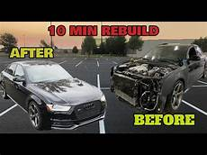 rebuilding a salvage copart audi s4 in 10 minutes like throtl youtube