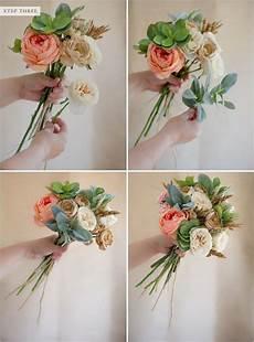how to make a faux flower bridal bouquet diy wedding bouquet diy wedding flowers flower
