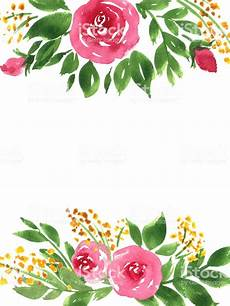 flower card design template watercolor flowers painted greeting card