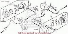 honda vt1100c shadow 1100 1986 g usa california turn signal schematic partsfiche