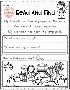 winter reading worksheets 20078 winter reading comprehension read and find reading comprehension reading comprehension