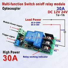 dc 12v 24v multi function delay time counter relay switch turn off module 30a ebay