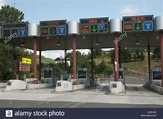 Motorway Toll Booths Southwest Stock Photo