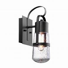 globe electric helm 1 light matte black outdoor wall sconce 44197 the home depot