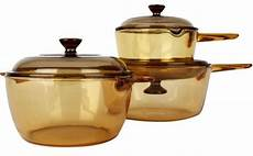 visions glass cookware 6 set brown souq uae