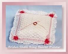 bridal shell ring bearer pillow crochet bridal patterns crochet pillow patterns