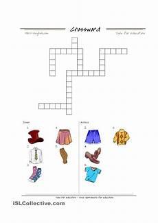 worksheets clothing 18811 clothing worksheet colour and crossword atividades de ingles atividades