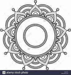 Indianische Muster Malvorlagen C Mandala Indien Fleur Ronde Motif Style Marocain Vecteurs