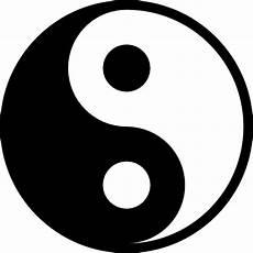 yin yang icono gratis