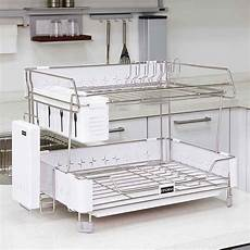 Bakeey Dish Drying Rack Stainless Steel by Korea Innokha Dish Drying Rack 2tier White Stainless Steel