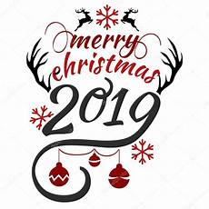 have very merry christmas and happy new year 2019 we wish you lettering text logo stock vector