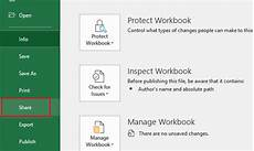 how to share an excel file for easy collaboration