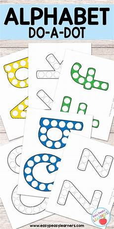 alphabet do a dot printables easy peasy learners