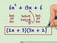 7 ways to factor second degree polynomials quadratic equations