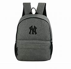 official new york yankees ny grey black trim backpack