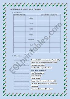 weather listening worksheets 14609 listening the weather esl worksheet by isabel2010