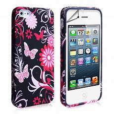 yousave iphone 5 5s floral pink black mobile