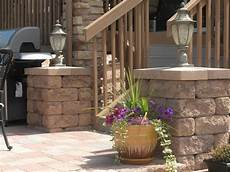 posts and pillars patio with accent lighting contemporary landscape minneapolis by