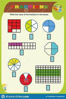 circle the correct fraction mathematics math worksheet for kids fractions addition printable