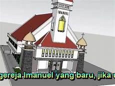 Contoh Gambar Mewarnai Gambar Rumah Gereja Kataucap
