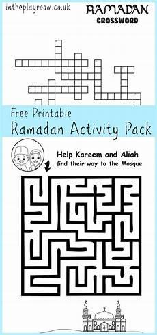 arabic puzzle worksheets 19868 ramadan maze and crossword printable activities in the playroom