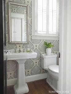 wallpaper bathroom ideas tone on tone interior garden design powder room renovation
