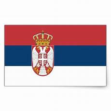 serbia serbian flag rectangular sticker zazzle