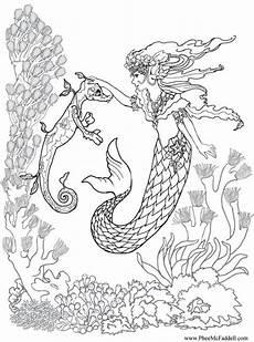 Ausmalbilder Meerjungfrau Mit Seepferdchen Seepferdchen Malvorlage Ausmalbilder F 252 R Kinder Feen