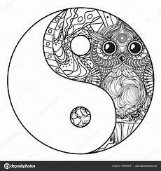 yin e yang zent 226 ngulo vetores de stock