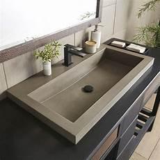 trough 3619 36 inch concrete trough bathroom sink