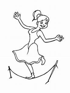 ausmalbilder malvorlagen akrobaten im zirkus kostenlos