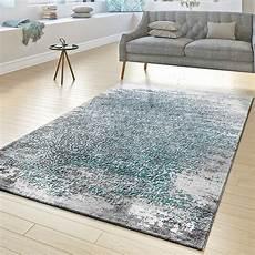 teppich blau grau designer teppich wohnzimmer kurzflor teppich florale