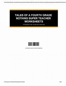 tales of a fourth grade nothing super teacher worksheets by sandraballard4891 issuu