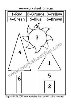 color by number shapes worksheets 16248 color by number shapes circle triangle square rectangle one worksheet with images