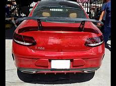 2016 2017 mercedes c class coupe tuner style rear wing spoiler