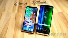 Iphone X Vs Galaxy S9 Plus Battery Compared