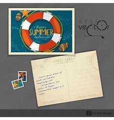nautical postcard template nautical postcard and postage sts royalty free vector