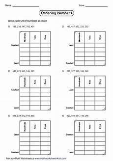 place value of numbers worksheets 5214 ordering numbers worksheets