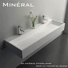 vasque de lavabo plan vasque salle de bain suspendu mineral 120 5x40 cm