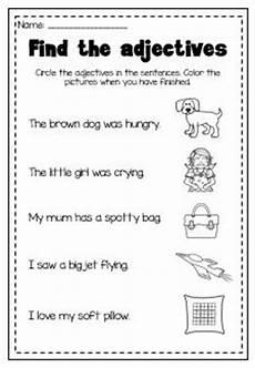 adjectives worksheets for grade 2 with pictures adjectives printable worksheet kindergarten first