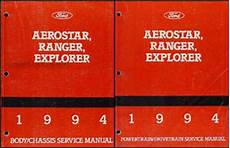 1994 ford probe repair shop manual original 1994 ford aerostar ranger and explorer repair shop manual set original