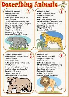 describing animals 1 worksheet free esl printable worksheets made by teachers