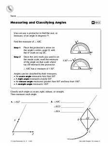 free angle measurement worksheets 1993 measuring and classifying angles worksheet for 5th grade lesson planet