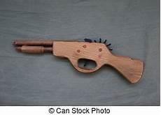 Wooden Gun With Wood Shavings Wooden Gun And Wood