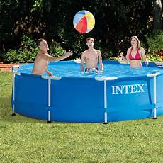 intex 10 x 30 quot metal frame swimming pool set with filter