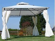 eleganter garten pavillon 3x3 meter dach 100