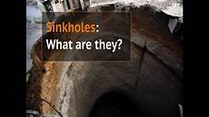 how are sinkholes formed youtube